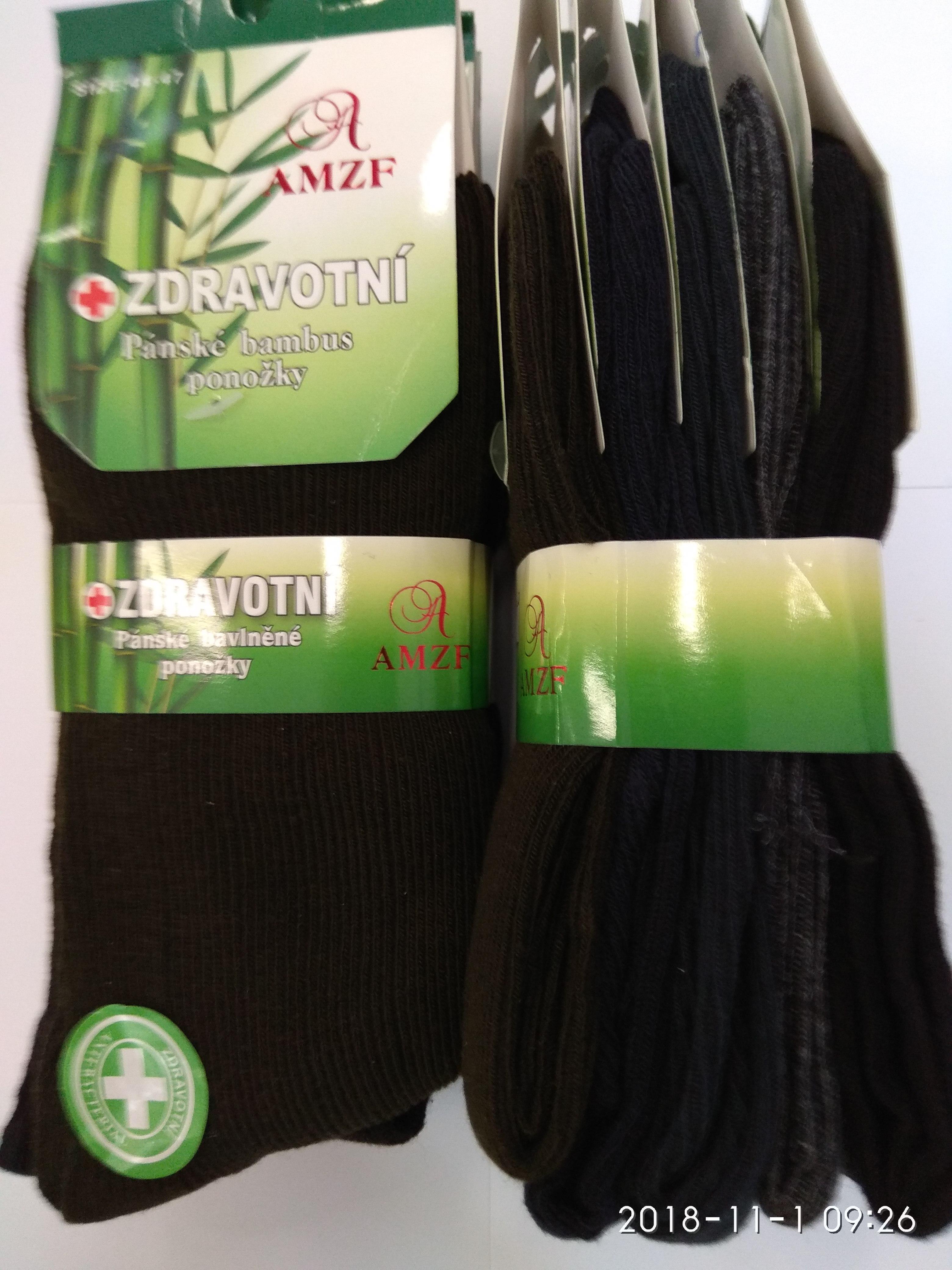 07a00666f4e Pánské ponožky BAMBUS zdravotní 5.párů AMZF