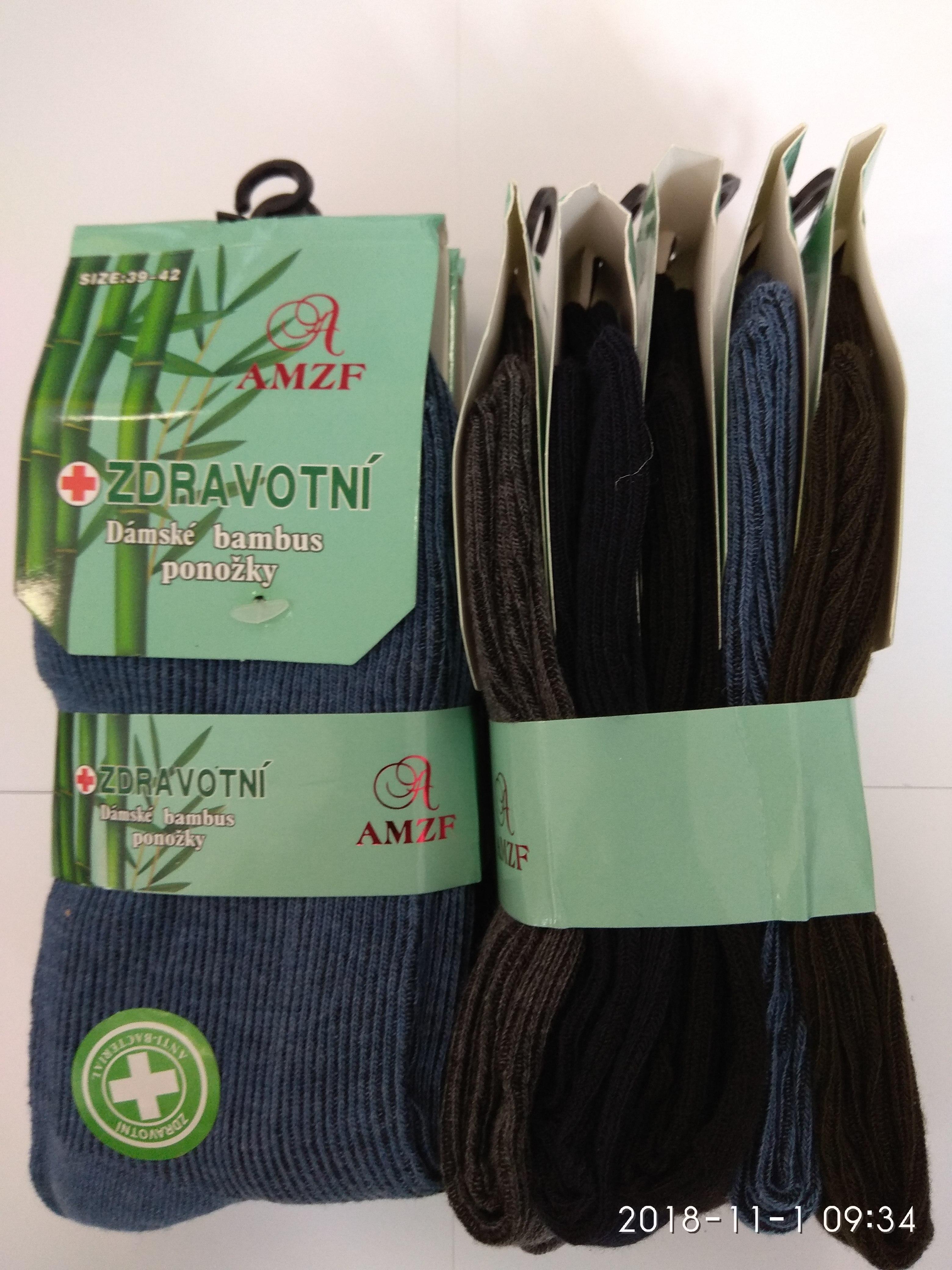1db1342ab63 Dámské ponožky BAMBUS zdravotní 5.párů AMZF