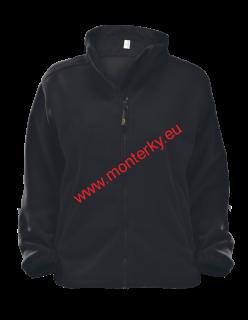 dd46931a8f0 Mikina 406 Fleece dámská Jacket Alberta černá 01