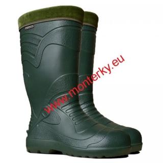Pánské zateplené holinky SEVERN 1064 zelené e659c8e491a