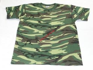 Dětské Army triko kr.ruk.tmavé-maskáč 7bb9d7d3e0